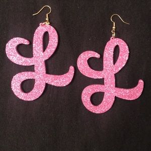Custom cut initial earrings